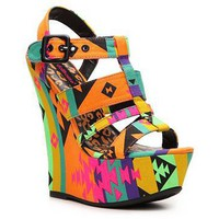 Dollhouse Electric Neon Wedge Sandal