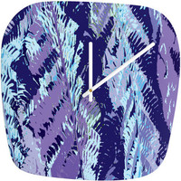DENY Designs Home Accessories | Rosie Brown Amethyst Ferns Modern Clock
