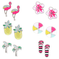 Payless, Women's Tropical (6 pk) Earrings, Women's