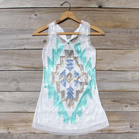 Midnight Dreams Sequin Tank, Sweet Bohemian Lace Tops
