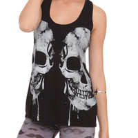 Teenage Runaway Black Double Skull Girls Tank Top | Hot Topic