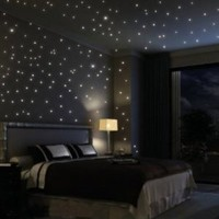 Fuloon Huge Set of 798/285 Glows The moon Beautiful Faery in the Dark Stars and Stick Wall Decals - Amazon.com