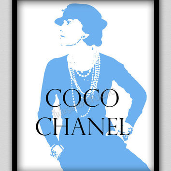 "8""x10"" Wall Decor Print, Modern Home Decor-COCO Chanel Portrait"