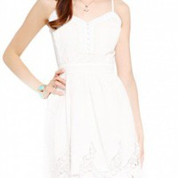 Lace Hem Bohemian Mini Dress
