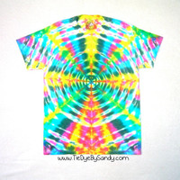 Adult Medium Bright Radio Wave Tie Dye Shirt