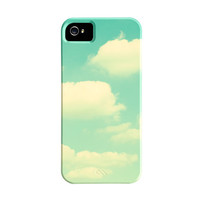 Cloud iPhone 5 Case - sky iphone 5 case - turquoise mint green iphone 4s case - retro cute iphone 5 case - iphone 4 cover - cell phone cases