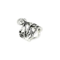 Silver Antiqued Octopus Ring - Unique Vintage - Prom dresses, retro dresses, retro swimsuits.