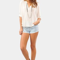 High Road Blouse - Ivory at Necessary Clothing