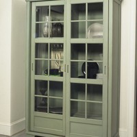 Jonathan David Library Cabinet with Sliding Doors - eclectic - pantry - other metros - by csnstores.com