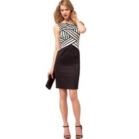 Bqueen Contrast Stripe Dress K415E - Bqueen women shoes,Bqueen designer shoes on sale