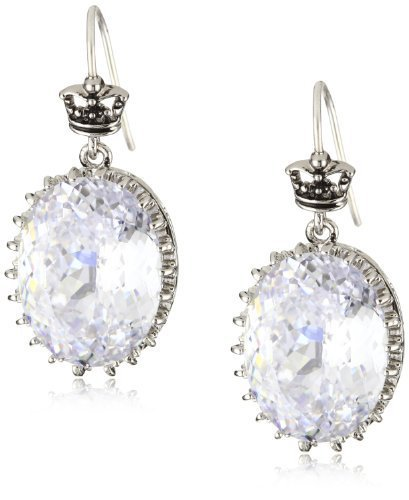 Juicy Couture Earrings Clear Large Oval Drop Earrings