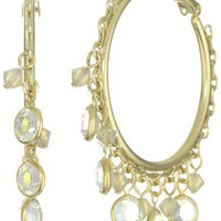 "Liz Palacios ""Crystales Opalos"" Multi-Crystal Hoop Earrings"