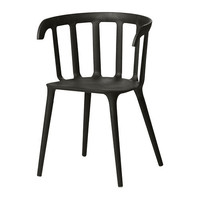 IKEA PS 2012 Chair with armrests - black  - IKEA