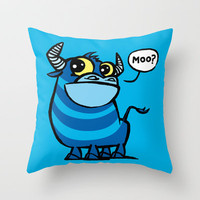 MooBlu Throw Pillow by Mirabilis