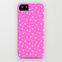 Hearts Pattern #7 - Pink iPhone & iPod Case by Ornaart