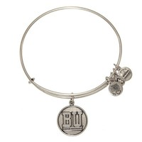 Alex and Ani Boston University™ Logo Charm Bangle - Russian Silver
