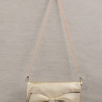 Zelda Structured Metallic Bow Clutch