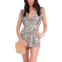 Ultra Cool Double Side Cut Out Romper Theodore, Designs by Stephene