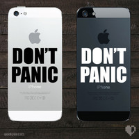 Don't panic iPhone Decal by geekydecals on Etsy