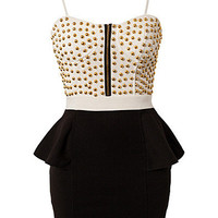 Studded Bandeau Dress, Club L