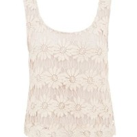 New Look Mobile | Cream Floral Lined Crochet Crop Top