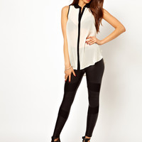 Lipsy Panelled Legging with Mesh Inserts