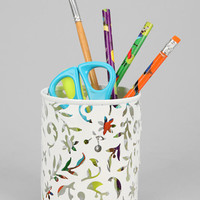 Urban Outfitters - Floral Cutout Pencil Cup