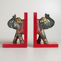 Elephant Bookends, Set of 2