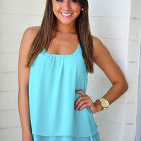 Island Time Tank: Bright Teal | Hope's