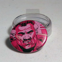 "Comic Book 1.5"" Button// Watchmen// Beat-Up Comedian"