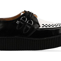T.U.K. Mondo Creeper in Black White at Solestruck.com