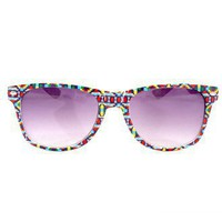 Retro Aztec Pattern Frame Sunglasses - New Arrivals - Retro, Indie and Unique Fashion