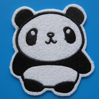 Iron-on embroidered Patch Giant Panda bear 2.75 inch