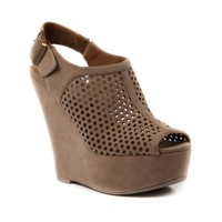 Womens Madden Girl Lauryn Wedge, Taupe | Journeys Shoes
