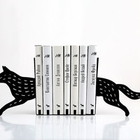 Bookends - Wolf - laser cut for precision these metal bookends will hold your favorite books