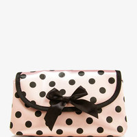 Expandable Polka Dot Cosmetic Bag