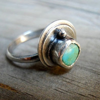 SALE Turquoise Sterling Silver Ring by patinaware on Etsy
