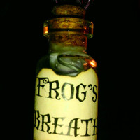 A Little Drop Of Poison.... Frog's Breath... Nightmare Before Christmas Inspired Poison Bottle Necklace