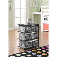 Altra Zebra 3-bin Storage End Table | Overstock.com