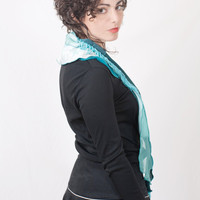 Woman Turquoise Scarf Tie Style Layers by studiolana on Etsy