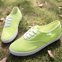 Lemon Green Canvas Shoes