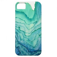 Turquoise Ripples iPhone 5 Case from Zazzle.com