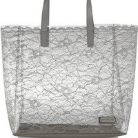 Marc by Marc Jacobs | Leather-trimmed PVC and lace tote | NET-A-PORTER.COM