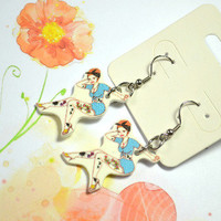 Rockabilly pin up girl earrings - Bows Jewellery