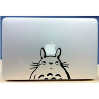 Amazon.com: Totoro and Apple - Vinyl Macbook / Laptop Decal Sticker Graphic: Electronics