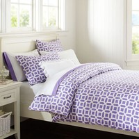 Peyton Duvet Cover + Sham, Purple