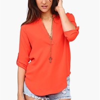 High Road Blouse - Tomato