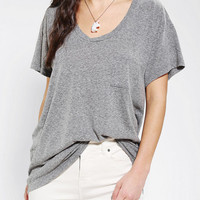 Truly Madly Deeply Scoopneck Slouch Pocket Tee-