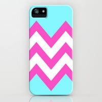 TEAL & PINK CHEVRON COLORBLOCK iPhone & iPod Case by natalie sales