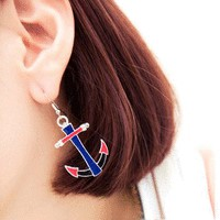 Colorful Anchors Fashion Earrings | LilyFair Jewelry